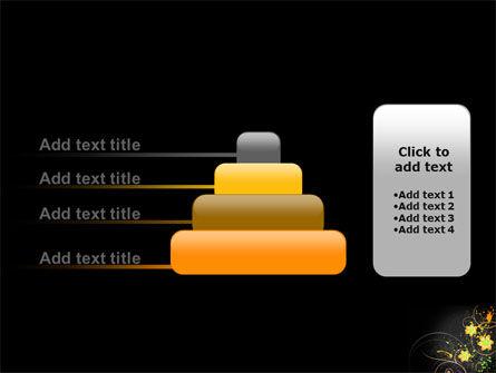 Yellow Flowers Pattern PowerPoint Template Slide 8