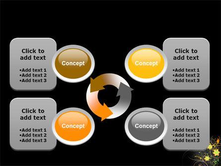 Yellow Flowers Pattern PowerPoint Template Slide 9