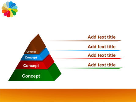 Rainbow Calendar PowerPoint Template Slide 12