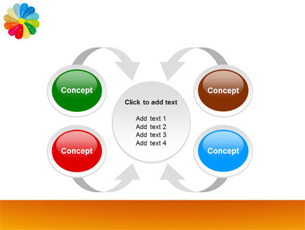 Rainbow Calendar PowerPoint Template Slide 6