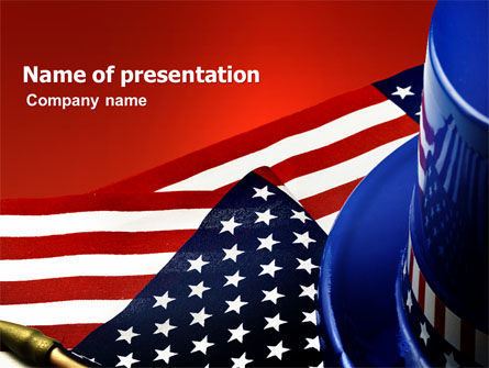 Symbols Of USA Elections PowerPoint Template, 03982, America — PoweredTemplate.com