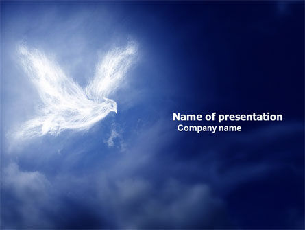 Religious/Spiritual: Peace Dove PowerPoint Template #03984