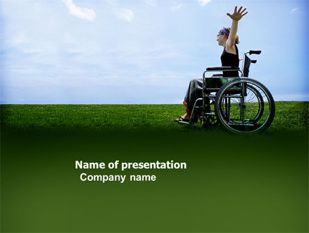 Handicapped Person PowerPoint Template, 03985, People — PoweredTemplate.com