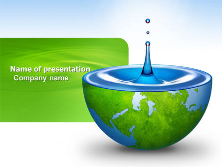Nature & Environment: Blue Water Of A Green Planet PowerPoint Template #03986