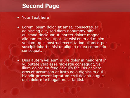 Blood PowerPoint Template Slide 2