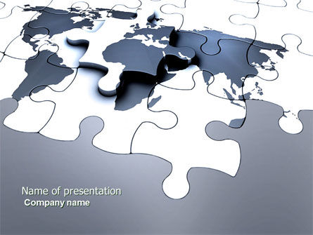 Global: Map Fragments PowerPoint Template #03989