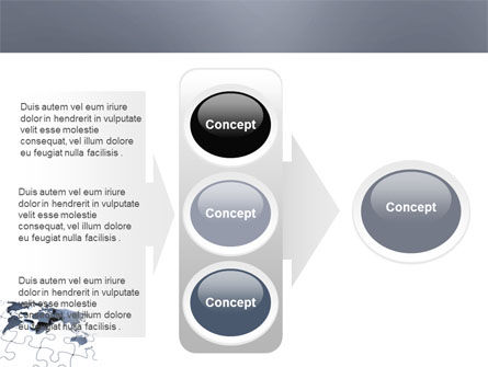 Map Fragments PowerPoint Template Slide 11