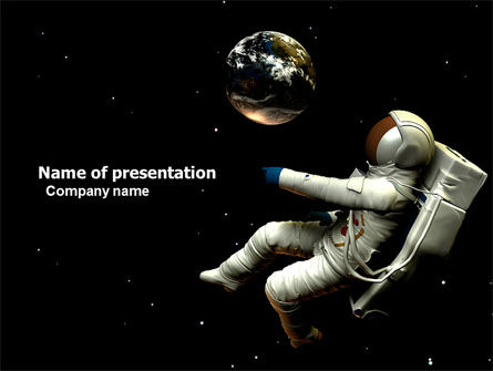 Cosmonaut PowerPoint Template, 03991, Technology and Science — PoweredTemplate.com