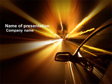 Cars and Transportation: Need for Speed PowerPoint Template #03992