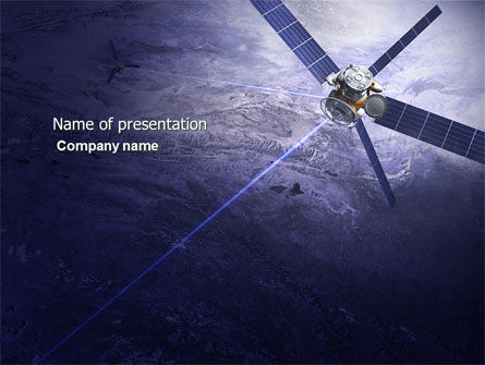 Telecommunication: Communication Satellite PowerPoint Template #03994