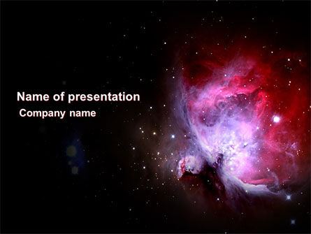 Technology and Science: Nebula PowerPoint Template #03996