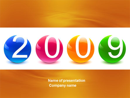 2009 year PowerPoint Template, 04001, Holiday/Special Occasion — PoweredTemplate.com