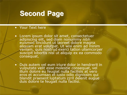 Molecular Lattice In Dark Yellow Colors PowerPoint Template, Slide 2, 04002, Technology and Science — PoweredTemplate.com