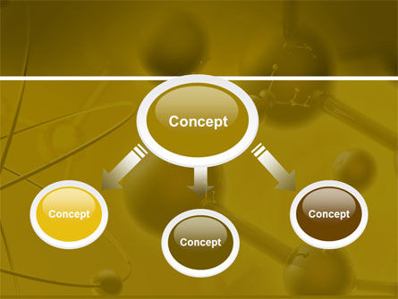Molecular Lattice In Dark Yellow Colors PowerPoint Template, Slide 4, 04002, Technology and Science — PoweredTemplate.com