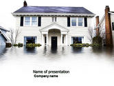 Nature & Environment: Flood PowerPoint Template #04003