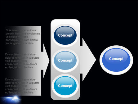 Blue Sunrise in Space PowerPoint Template Slide 11
