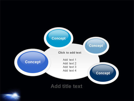 Blue Sunrise in Space PowerPoint Template Slide 16