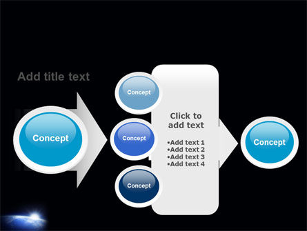 Blue Sunrise in Space PowerPoint Template Slide 17