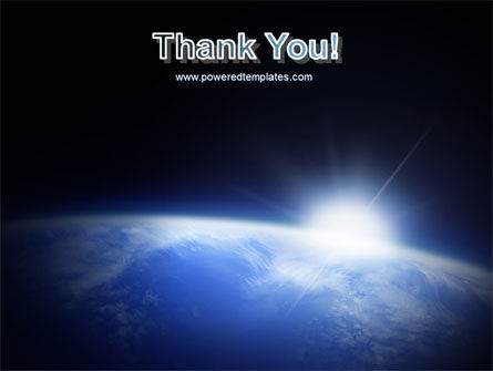 Blue Sunrise in Space PowerPoint Template Slide 20
