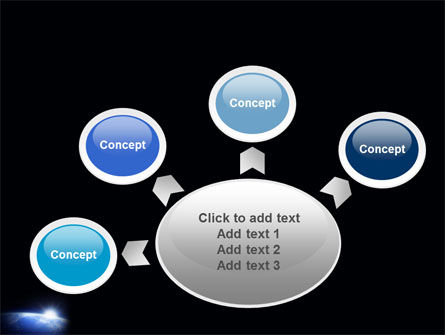 Blue Sunrise in Space PowerPoint Template Slide 7
