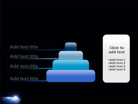 Blue Sunrise in Space PowerPoint Template Slide 8
