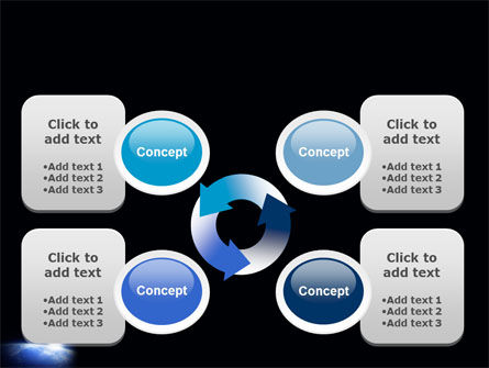 Blue Sunrise in Space PowerPoint Template Slide 9