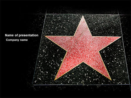 Walk of Fame PowerPoint Template, 04009, Careers/Industry — PoweredTemplate.com