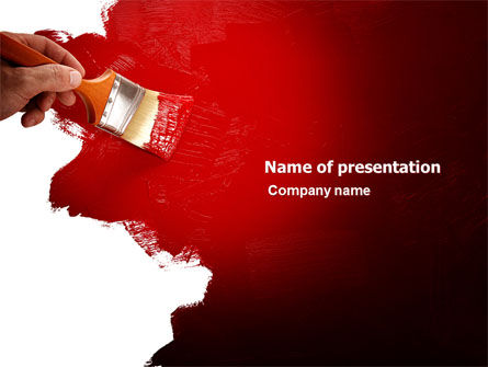 Red Paint PowerPoint Template