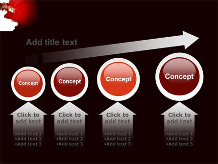 Red Paint PowerPoint Template Slide 13