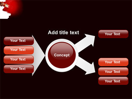 Red Paint PowerPoint Template Slide 14