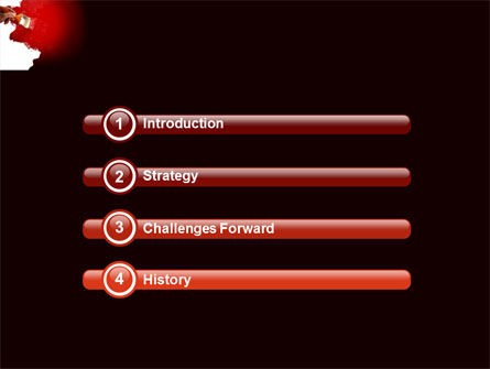 Red Paint PowerPoint Template Slide 3