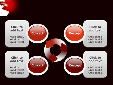 Red Paint PowerPoint Template Slide 9
