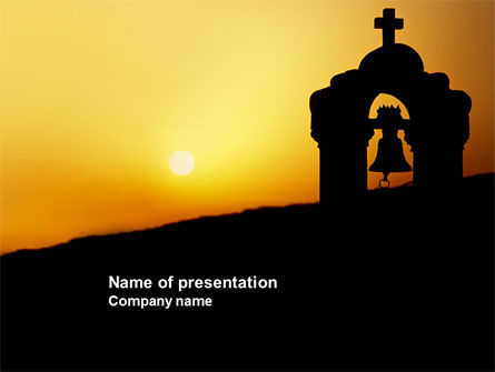 Religious/Spiritual: Bell Tower PowerPoint Template #04011