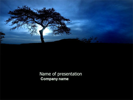 Twilight PowerPoint Template, 04014, Nature & Environment — PoweredTemplate.com