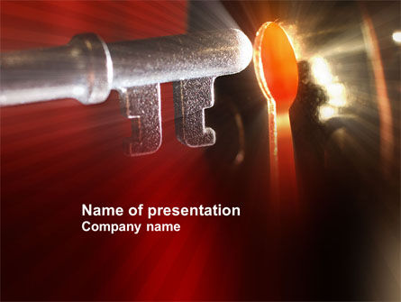 Key to Answer PowerPoint Template, 04017, Business Concepts — PoweredTemplate.com