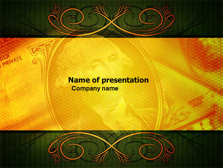 Dollar In Yellow PowerPoint Template, 04022, Financial/Accounting — PoweredTemplate.com