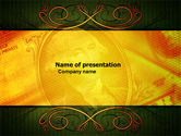 Financial/Accounting: Dollar In Yellow PowerPoint Template #04022