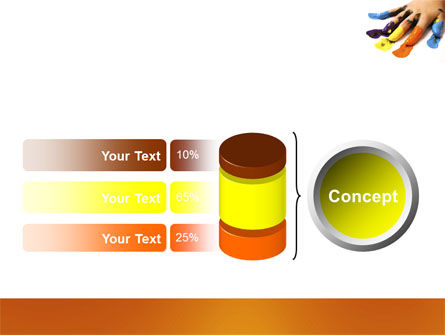 Painted Fingers PowerPoint Template Slide 11