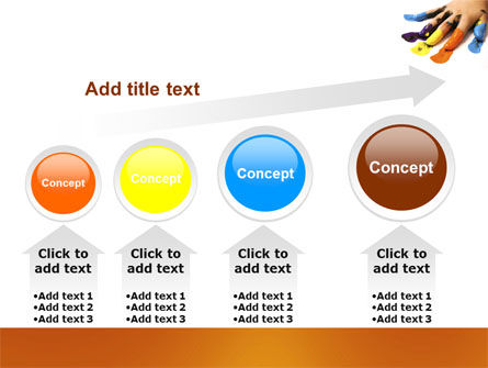 Painted Fingers PowerPoint Template Slide 13