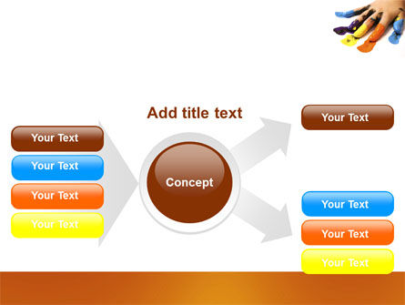 Painted Fingers PowerPoint Template Slide 14