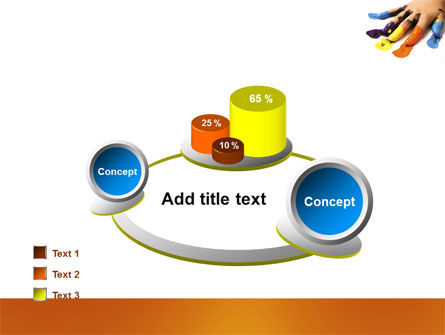 Painted Fingers PowerPoint Template Slide 16