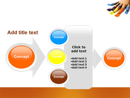 Painted Fingers PowerPoint Template Slide 17
