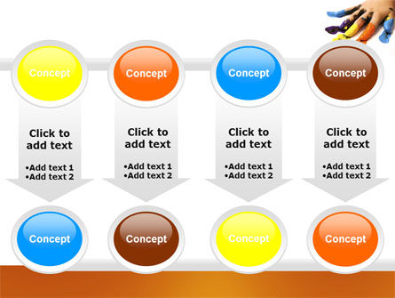 Painted Fingers PowerPoint Template Slide 18