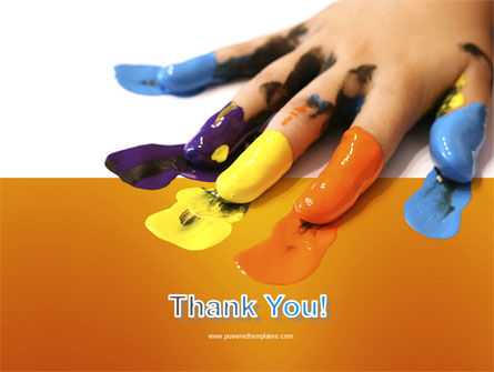 Painted Fingers PowerPoint Template Slide 20
