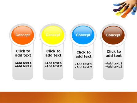Painted Fingers PowerPoint Template Slide 5