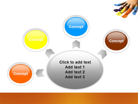 Painted Fingers PowerPoint Template Slide 7