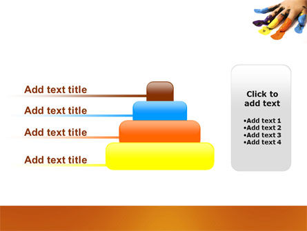 Painted Fingers PowerPoint Template Slide 8