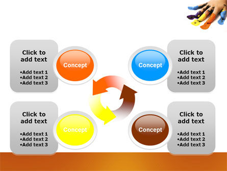 Painted Fingers PowerPoint Template Slide 9