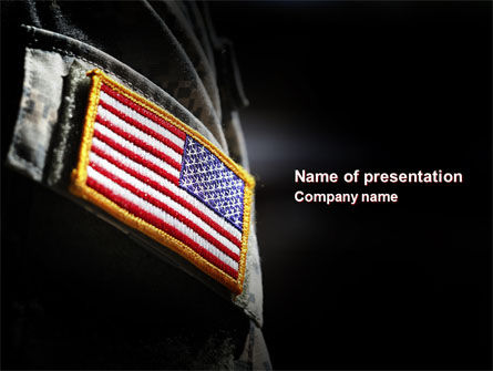 american armed forces powerpoint template backgrounds 04026