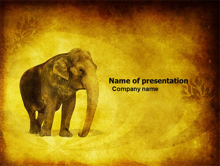 Animals and Pets: Indian Elephant PowerPoint Template #04027